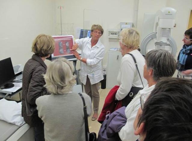Bezoek mammografische eenheid